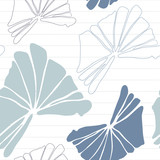 Botanical vector seamless pattern with hand drawn  tropical  leaves  and geometric background. - 192450216