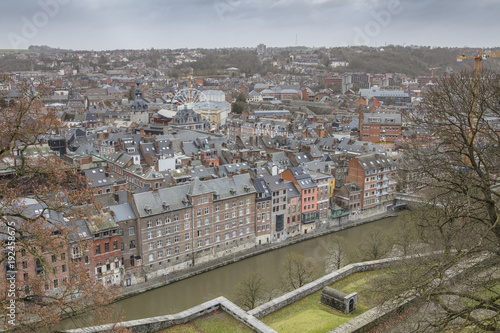Wall mural Cityscape of Namur view from the Historic Citadel of Namur, Wallonia region, Belgium