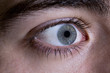 Close-up of an eye of a teenager