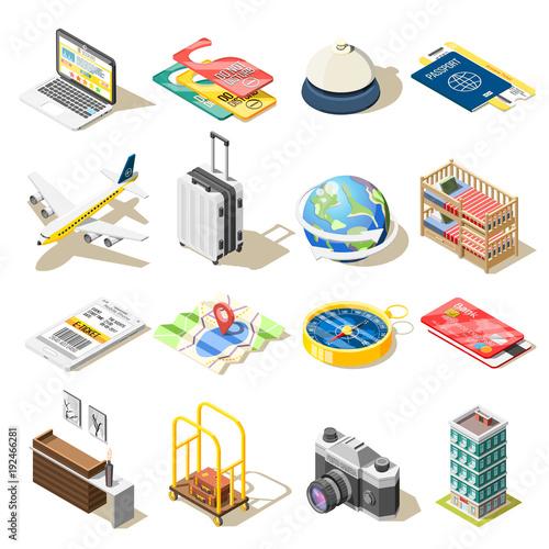 Travel Isometric Icons