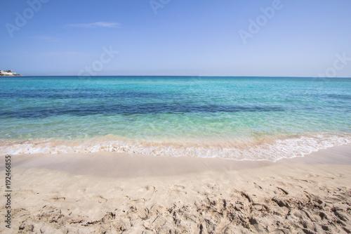 Fotobehang Palermo Mondello beach, Sicily, Italy