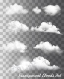Set of transparent different clouds. Vector. - 192472809