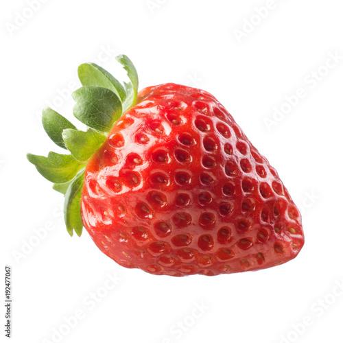 Juicy strawberry on white background