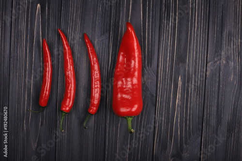 Fotobehang Hot chili peppers red chili pepper