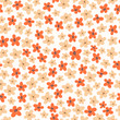 Vintage floral pattern. Seamless vector pattern with flowers for textiles, packaging, Wallpapers, covers.