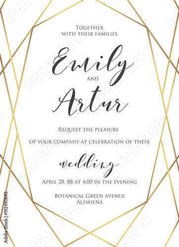 Wedding Invite Invitation Save The Date Card Delicate Design With