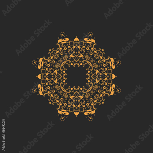 Vector ornamental white background with oriental pattern style - 192492051
