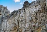 Catinaccio mountain massif summits, Dolomiti, Italy - 192501224