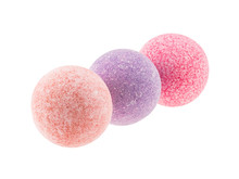 Three Spotted Bath Bombs  Over  Sticker
