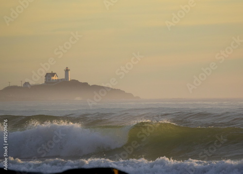 Papiers peints Mer coucher du soleil Cape Neddick Nubble Lighthouse