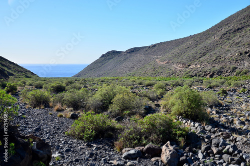 Deurstickers Pool La Gomera: hike from playa de santiago to san sebastian