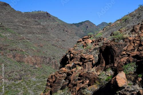 Foto op Canvas Grijze traf. La Gomera: hike from playa de santiago to san sebastian