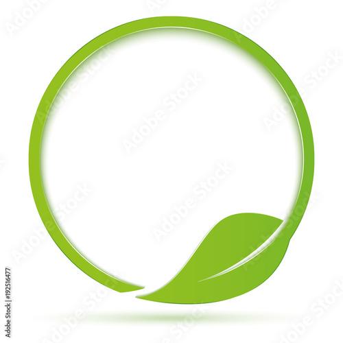 Ecologia simbolo cerchio con foglia