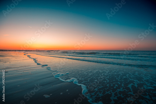 Fotobehang Strand Domburg, the Netherlands Beach sunset