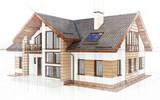 3d contemporary house, villa - 192517808