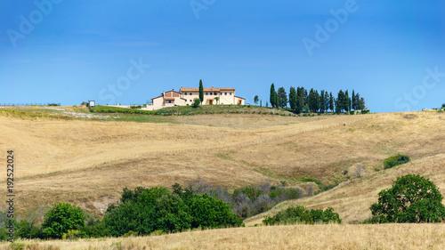 Fotobehang Beige Krajobrazy Toskanii