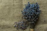 Lavender bouquet. Rustic concept photo. - 192525200