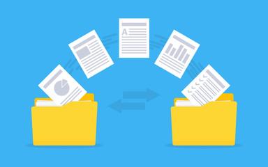 Files transfer. Copy files, data exchange, backup.
