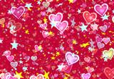 many flying stars and hearts - 192530699