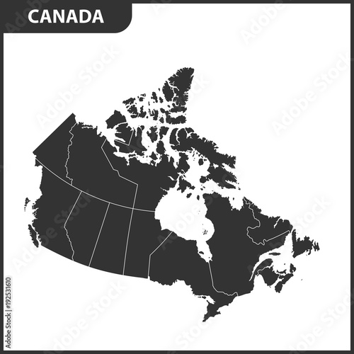 The detailed map of the Canada with regions or states | Buy Photos ...