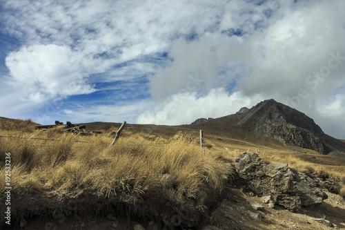 Fotobehang Zomer Montagna en México y vista