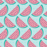 seamless pattern with slices of watermelon - 192538422