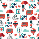 vector british seamless pattern - 192539058
