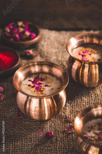 Thandai ou Sardai, Boisson Indienne pour le Holi Festival ou le Deepavali.