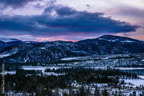 Fotobehang Nachtblauw Sunrise in Breckenridge, Colorado