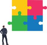 persona guarda serie di puzzle uniti - 192561081