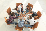 view from the top. business team shows its unity - 192561694
