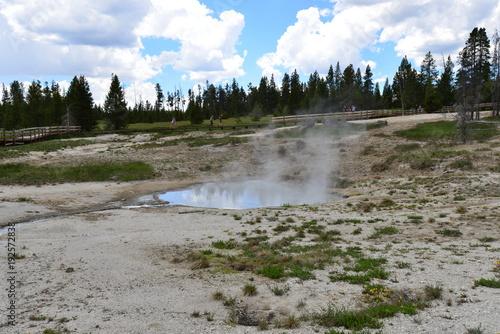 Fotobehang Donkergrijs Trip to Yellowstone National Park, USA