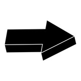 directional right arrow icon vector illustration design - 192581637