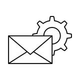 envelope mail with gear vector illustration design - 192582404