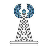 Communication antenna symbol icon vector illustration graphic design - 192589009