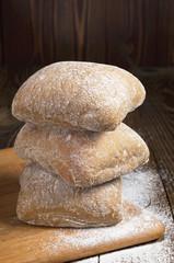 Stack of ciabatta bread