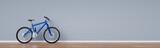 Mountainbike Fahrrad lehnt an Wand zu Hause
