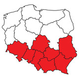 Map of Poland - 192596237