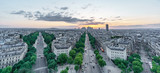 Sunset skyline of Paris with la defense and streets - 192598010