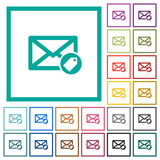 Tagging mail flat color icons with quadrant frames - 192606082