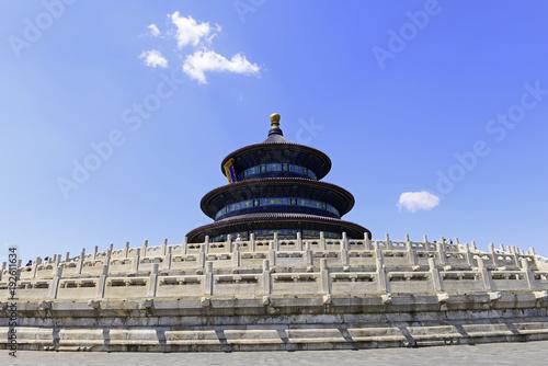 Fotobehang Peking The hall of prayer in tiantan park is in Beijing, China