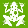 Frog icon green