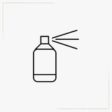 paint spray line icon
