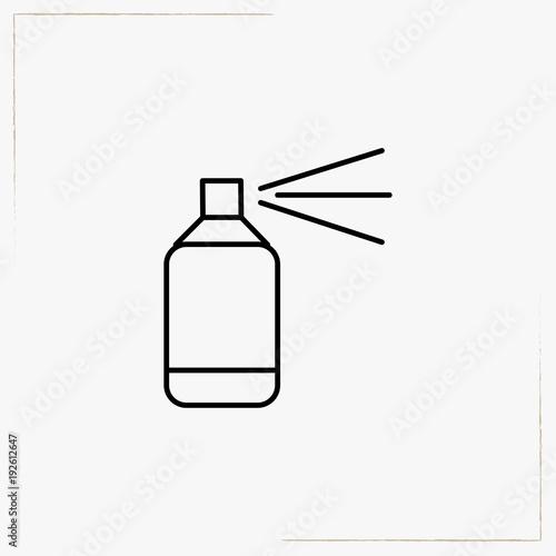 Fotobehang Graffiti paint spray line icon