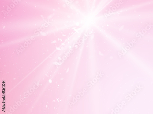 abstract rays pink vector background with light dots