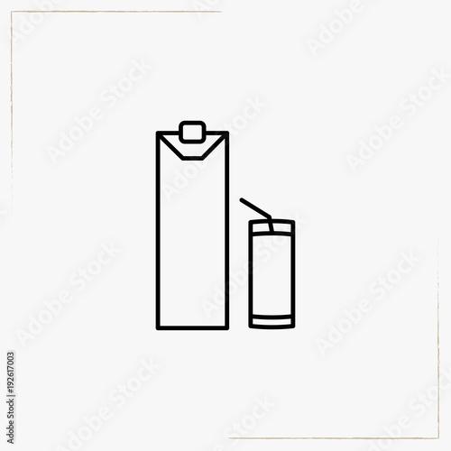 fresh juice line icon
