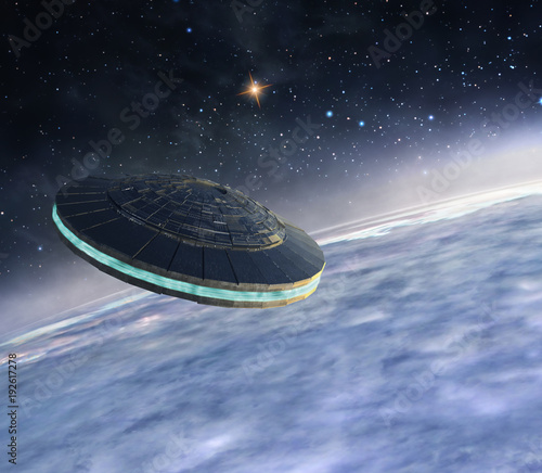 Aluminium UFO Ufo in orbit