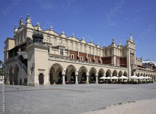 Fotobehang Krakau Cloth Hall (Sukiennice) on Main square in Krakow. Poland