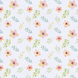 Watercolor floral pattern. Floral background. Gentle colors. Female pattern. Handmade. - 192620826