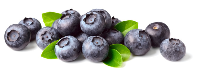 fresh blueberries isolated on white © amy_lv
